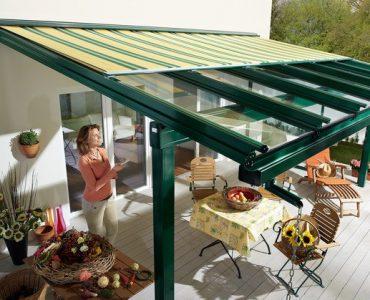 Murano Integrale – Dach szklany ze zintegrowaną markizą
